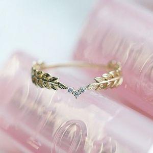 🆕Nomad Free Golden Feminine Wheat Gold Ring